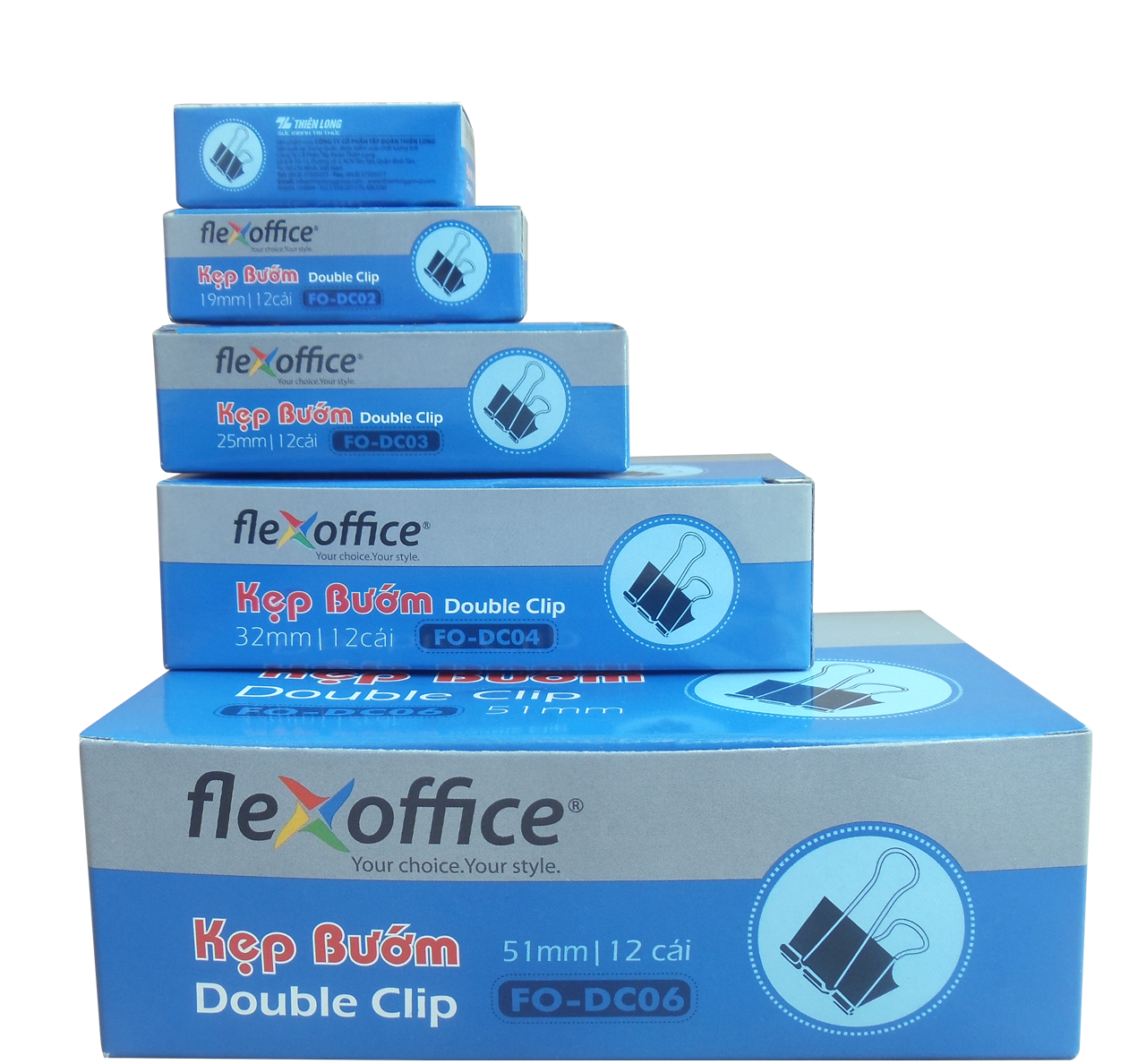 hộp đựng kẹp bướm FO (double clip flexoffice)